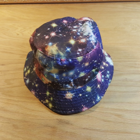 833b9bcf79a Psychedelic Bucket Bonnie Fishing Hat Space Theme.  M 5a793a232c705d8642d28598